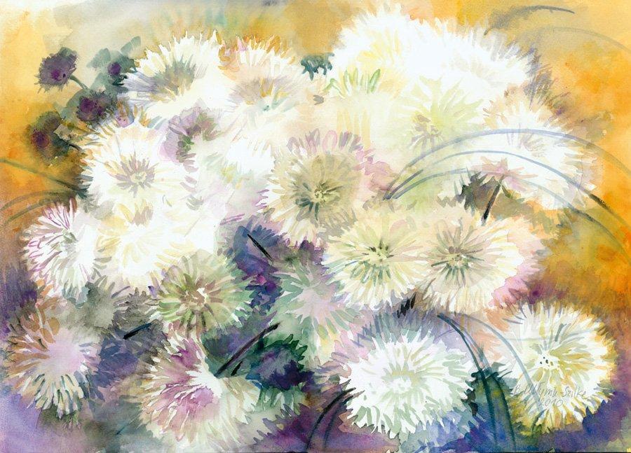 Bukiet kwiatów - akwarela Barbara Młynik-Szilke