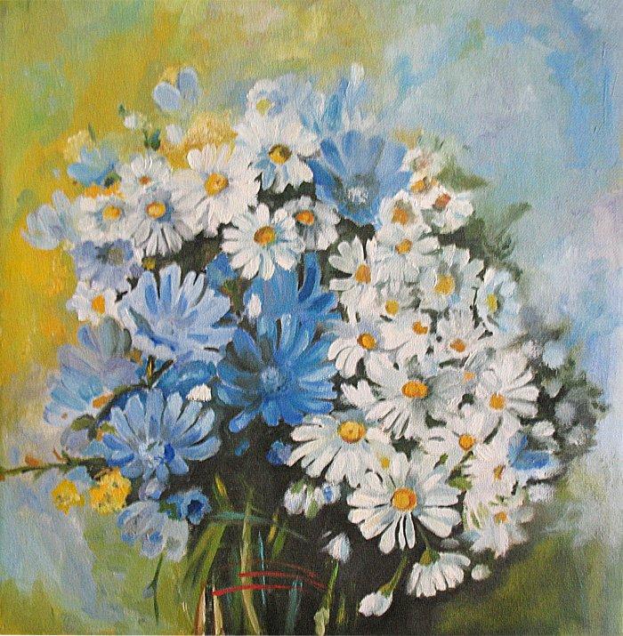 Bukiet kwiatów - obraz olejny Iwona Łukanowska-Frankiewicz