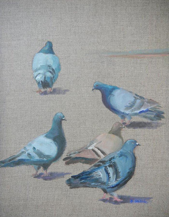 Gołębie - obraz olejny Bożena Szenk