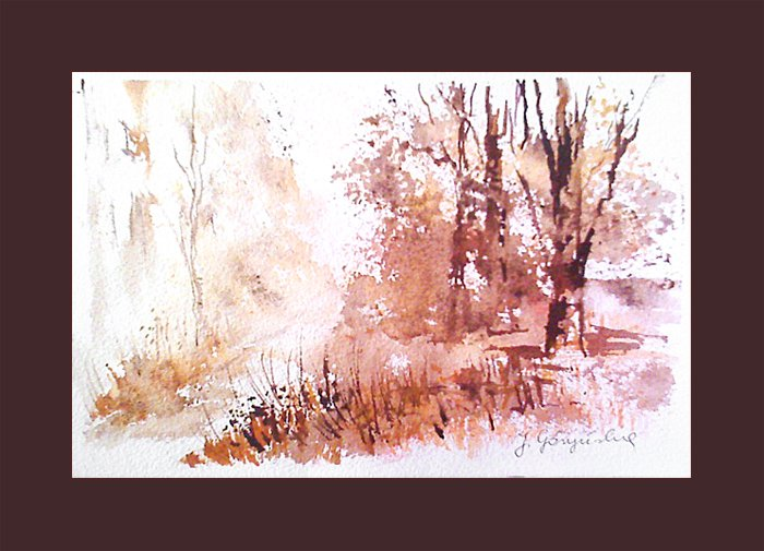 Jesienny las - tusz