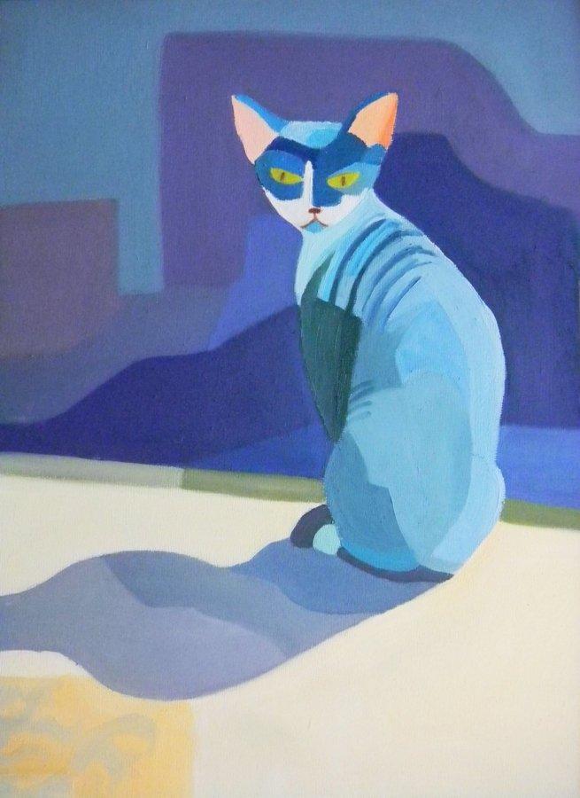 Kot - obraz olejny Bożena Szenk