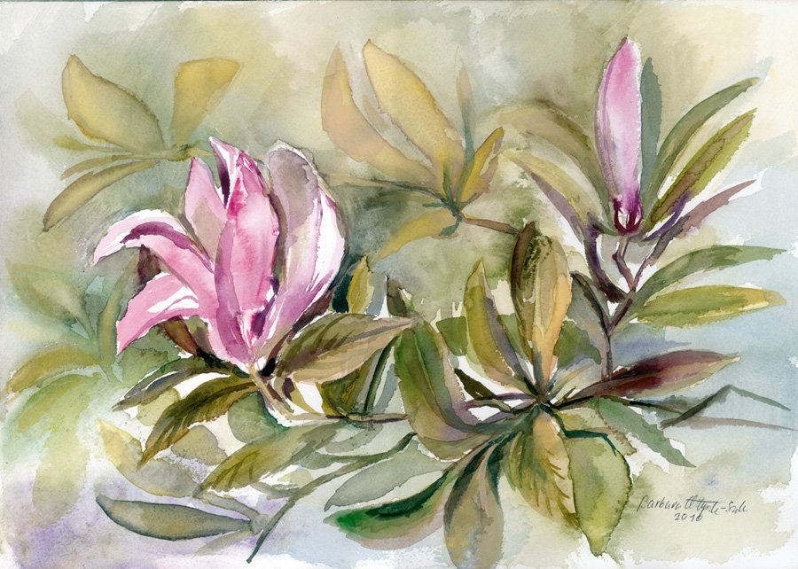 Kwiaty - akwarela Barbara Młynik-Szilke