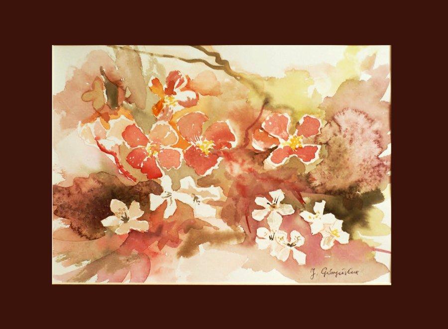 Kwiaty - akwarela