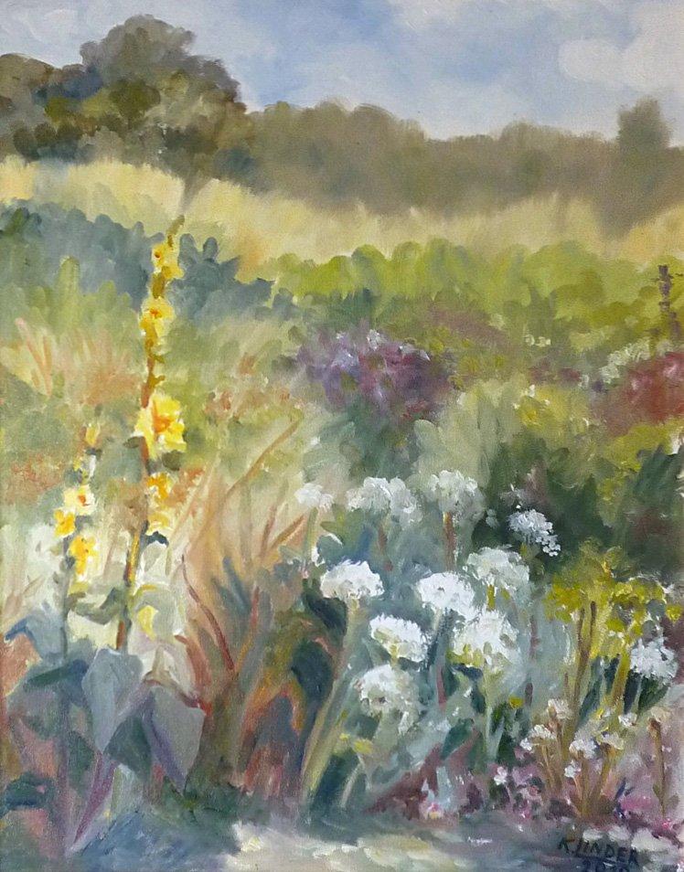 Łąka - obraz olejny Krystyna Linder-Kopiecka