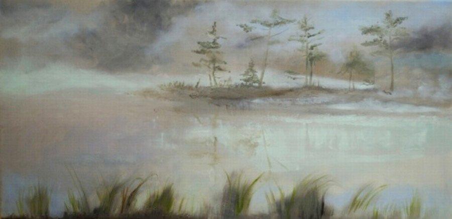 Mgły się snują - obraz olejny