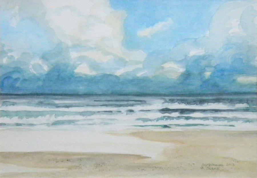 Morze - akwarela Bożena Szenk
