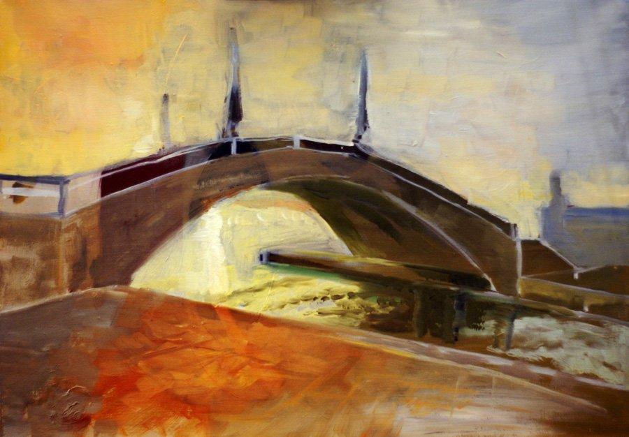 Most w Wenecji - obraz olejny