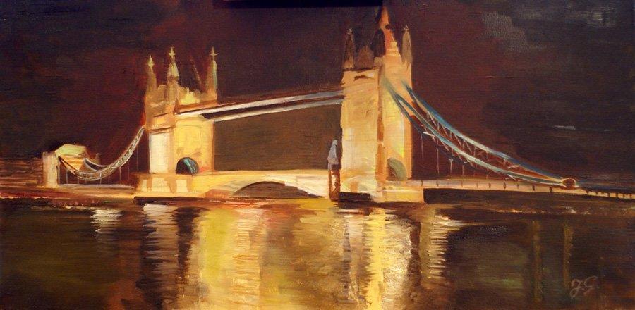 Most w Pradze - obraz olejny