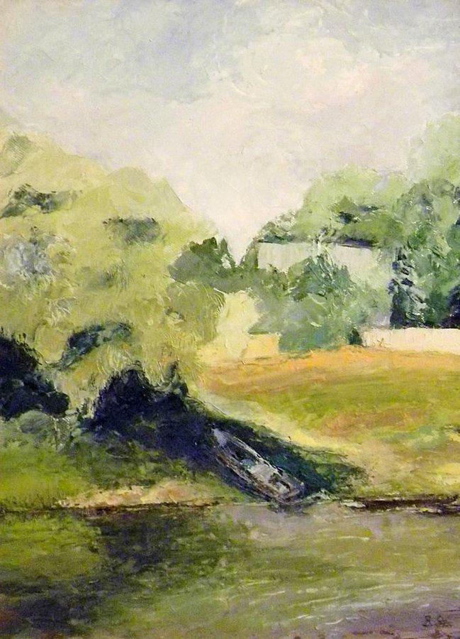 Nad Bugiem - obraz olejny Bożena Szenk