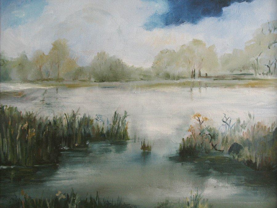 Pejzaż - obraz olejny Iwona Łukanowska-Frankiewicz
