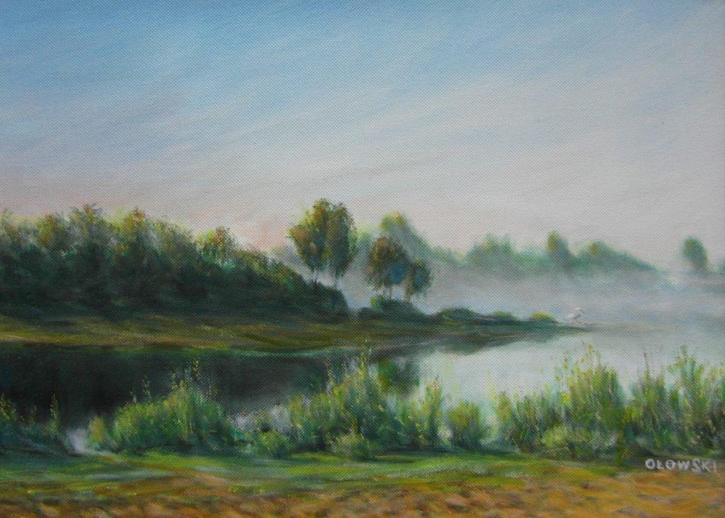 Pejzaż - obraz olejny Tadeusz Ołowski