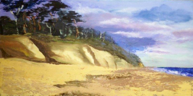 Plaża nad Bałtykiem - obraz olejny