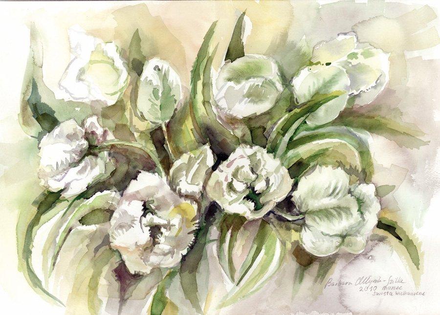 Tulipany - akwarela Barbara Młynik-Szilke