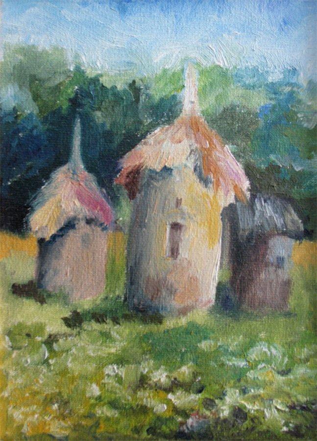 Ule - obraz olejny Iwona Łukanowska-Frankiewicz